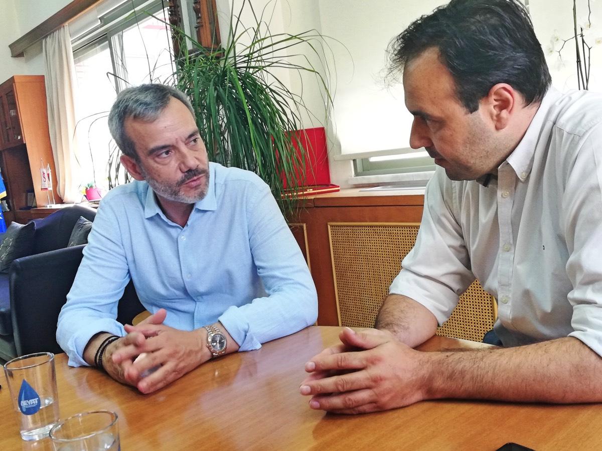 Επίσκεψη Ζέρβα στον Δήμο Τρικκαίων και σύναντηση με τον Δήμαρχο Παπαστεργίου