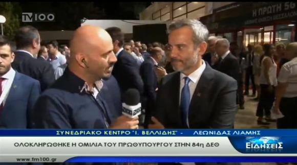Συνέντευξη του δημάρχου Θεσσαλονίκης στην ΤV100