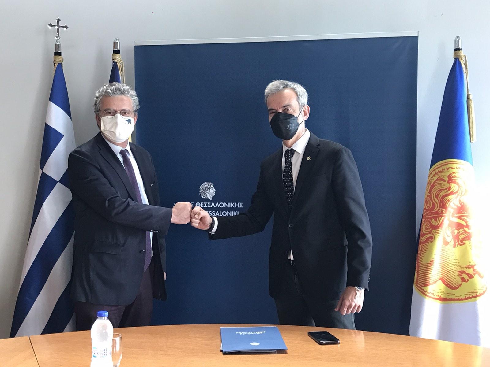 Συνάντηση του Δημάρχου Θεσσαλονίκης Κωνσταντίνου Ζέρβα με τον Συνήγορο του Πολίτη Ανδρέα Ποττάκη