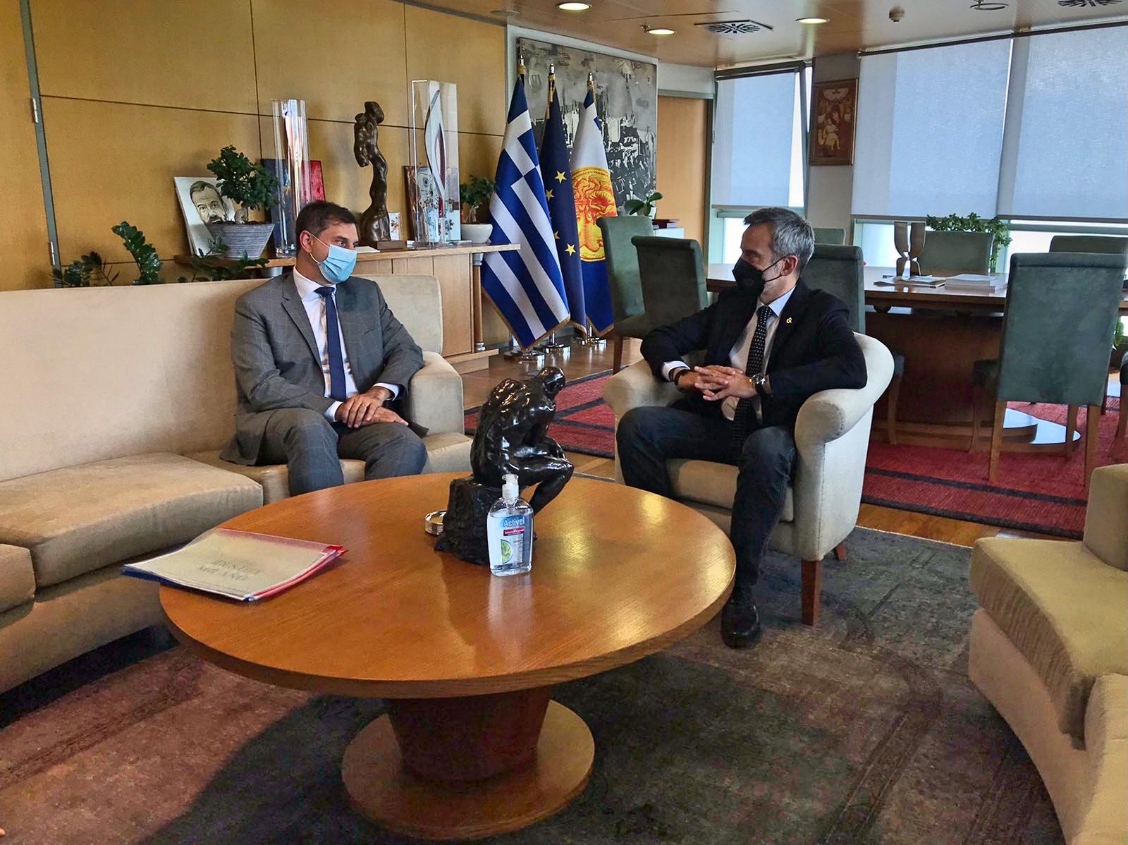 Συνάντηση του Δημάρχου Θεσσαλονίκης Κωνσταντίνου Ζέρβα με τον Υπουργό Τουρισμού Χάρη Θεοχάρη