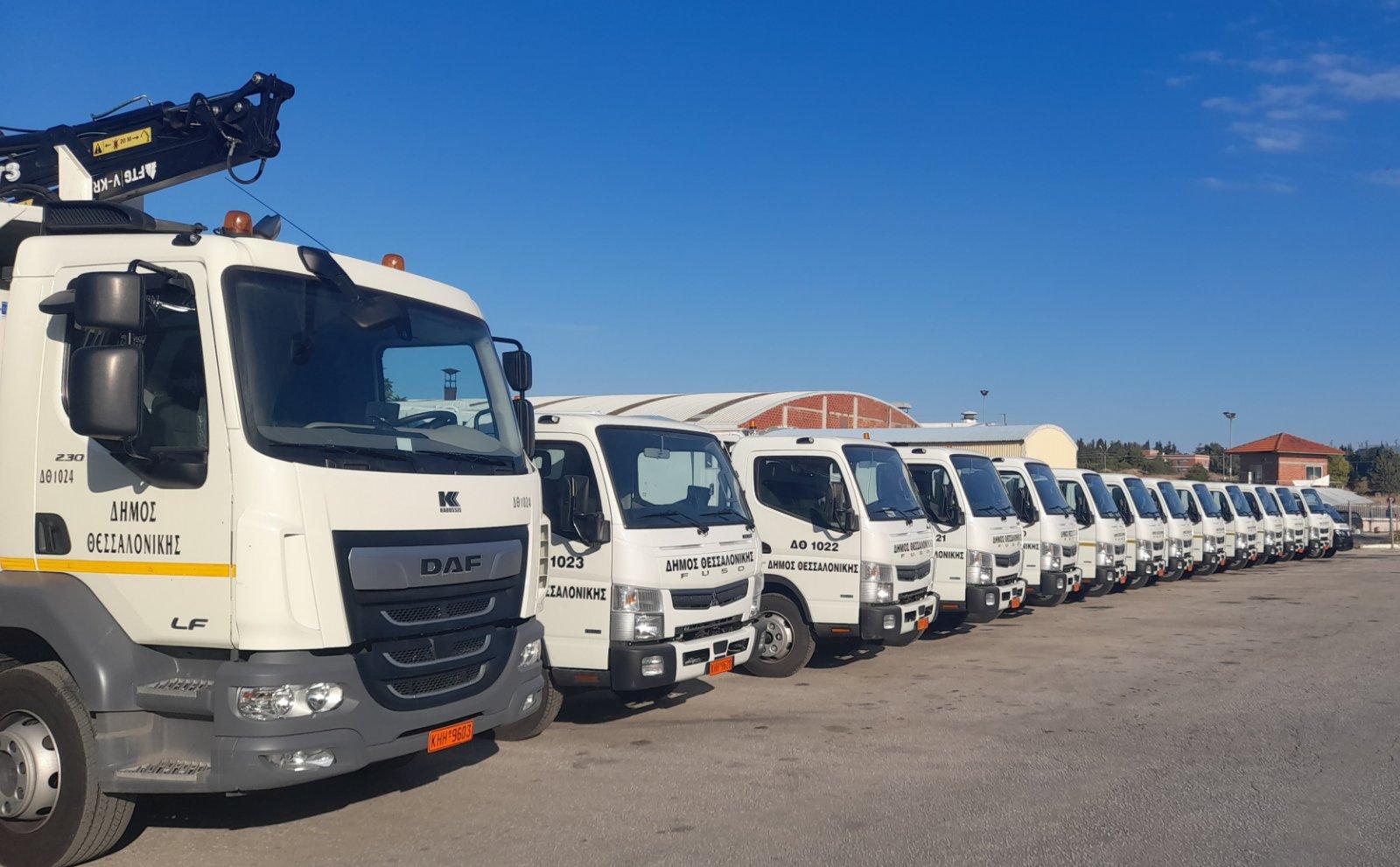 Νέα οχήματα στον στόλο του Δήμου Θεσσαλονίκης – Επιθεώρηση από Ζέρβα – Ζεϊμπέκη