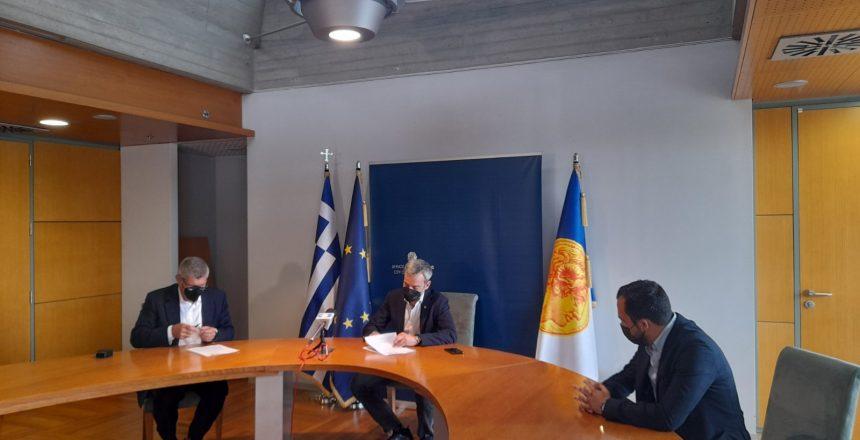 Υπογραφή σύμβασης για το έργο της ενεργειακής αναβάθμισης του σχολείου στην οδό Κλεάνθους 8:6:21